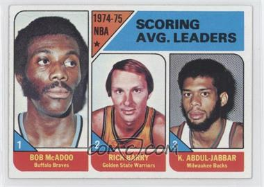 1975-76 Topps #1 - NBA Scoring Leaders (Bob McAdoo, Rick Barry,Kareem Abdul-Jabbar)