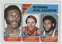 NBA Scoring Leaders (Bob McAdoo, Rick Barry,Kareem Abdul-Jabbar)