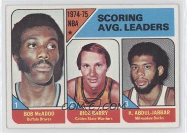 1975-76 Topps #1 - NBA Scoring Leaders (Bob McAdoo, Rick Barry,Kareem Abdul-Jabbar)