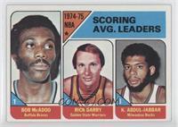 NBA Scoring Leaders (Bob McAdoo, Rick Barry,Kareem Abdul-Jabbar)