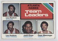 Atlanta Hawks Team Leaders (Lou Hudson, John Drew, Dean Meminger) [Poorto…