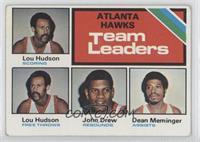 Atlanta Hawks Team Leaders (Lou Hudson, John Drew, Dean Meminger)