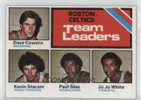 Boston Celtics Team Leaders (Dave Cowens, Kevin Stacom, Paul Silas, Jo Jo White)