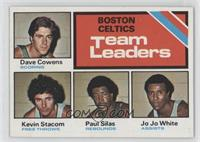 Boston Celtics Team Leaders (Dave Cowens, Kevin Stacom, Paul Silas, Jo Jo White)