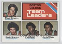 Dave Cowens, Kevin Stacom, Paul Silas, Jo Jo White