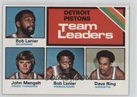 Detroit Pistons Team Leaders (Bob Lanier, John Mengelt, Dave Bing)