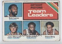 Pistons Team Leaders (Bob Lanier, John Mengelt, Dave Bing) [Poor to F…