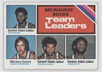 Milwaukee Bucks Team Leaders (Kareem Abdul-Jabbar, Mickey Davis) [Good to&…