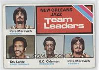 New Orleans Jazz Team Leaders (Pete Maravich, Stu Lantz, E.C. Coleman) [Good&nb…