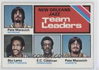 Pete Maravich, Stu Lantz, E.C. Coleman, Virginia Squires Team