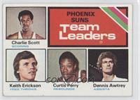Phoenix Suns Team Leaders (Charlie Scott, Keith Erickson, Curtis Perry, Dennis …