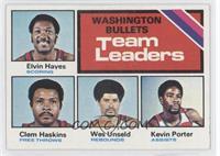 Washington Bullets Team, Elvin Hayes, Clem Haskins, Wes Unseld, Kevin Porter