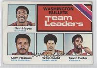 Washington Bullets Team, Elvin Hayes, Clem Haskins, Wes Unseld, Kevin Porter [G…