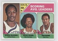 Scoring Avg. Leaders (George McGinnis, Julius Erving, Ron Boone)