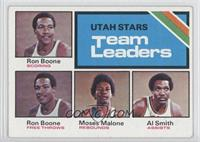 Ron Boone, Moses Malone, Al Smith
