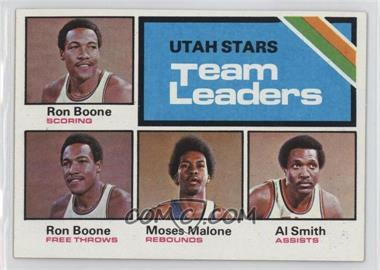 1975-76 Topps #286 - Utah Stars Team Leaders (Ron Boone, Moses Malone, Al Smith)