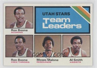 1975-76 Topps #286 - Utah Stars Team Leaders (Ron Boone, Moses Malone, Al Smith)