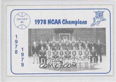 1978-79 Foodtown Kentucky Wildcats #6 - Kentucky Wildcats Team