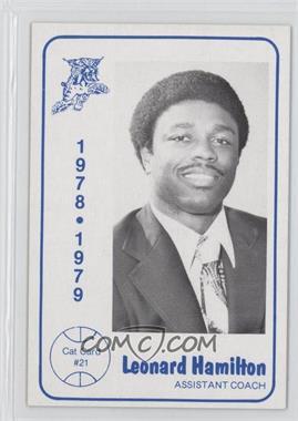 1978-79 Foodtown University of Kentucky Wildcats - [Base] #21 - Leonard Hamilton