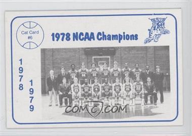 1978-79 Foodtown University of Kentucky Wildcats - [Base] #6 - Kentucky Wildcats Team