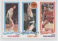Fred Brown, Larry Bird, Ron Brewer
