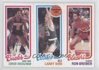 Junior Bridgeman, Larry Bird, Ron Brewer