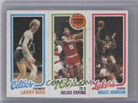 Larry Bird, Julius Erving, Magic Johnson [Good to VG‑EX]