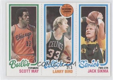 1980-81 Topps - [Base] #SMLBJS - Scott May, Larry Bird, Jack Sikma