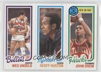 Wes Unseld, Geoff Huston, John Drew [Good to VG‑EX]