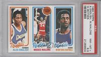 Alex English, Moses Malone, Winford Boynes [PSA 8.5]