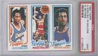 Alex English, Moses Malone, Winford Boynes [PSA 9]