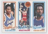 Alex English, Moses Malone, Winford Boynes