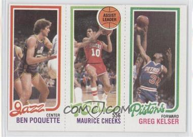 1980-81 Topps #BPMCGK - Ben Poquette, Maurice Cheeks, Greg Kelser