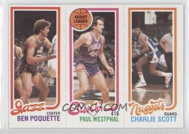 1980-81 Topps #BPPWCS - Ben Poquette, Charlie Scott