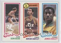 Don Buse, Adrian Dantley, James Bailey