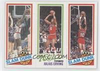 Slam Dunk Star (Elvin Hayes), Julius Erving, Slam Dunk Star (Ron Brewer)
