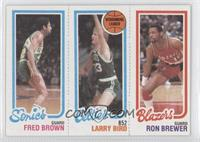 Fred Brown, Larry Bird, Ron Brewer