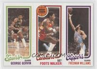 George Gervin, Foots Walker, Freeman Williams