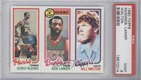 Bill Walton, George McGinnis, Bob Lanier [PSA 9]