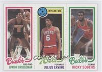 Junior Bridgeman, Julius Erving, Ricky Sobers