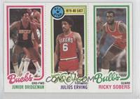 Junior Bridgeman, Julius Erving, Ricky Sobers