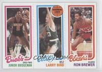 Junior Bridgeman, Larry Bird, Ron Brewer