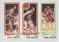 James Edwards, Mike Newlin, Lionel Hollins
