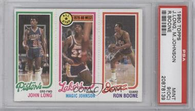 1980-81 Topps #JLMJRB - John Long, Magic Johnson, Ron Boone [PSA 9 (OC)]