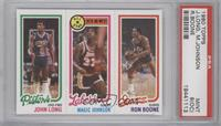 John Long, Magic Johnson, Ron Boone [PSA 9 (OC)]