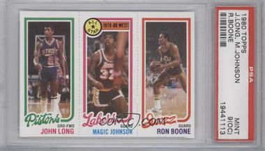 1980-81 Topps #JLMJRB - John Long, Magic Johnson, Ron Boone [PSA9(OC)]