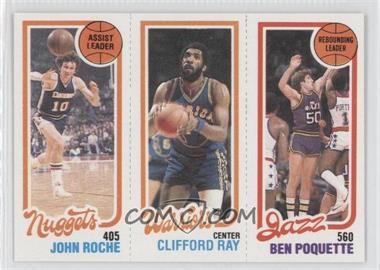 1980-81 Topps #JRCRBP - John Roche, Clifford Ray, Ben Poquette