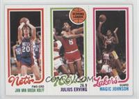 Jan Van Breda Kolff, Julius Erving, Magic Johnson