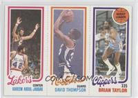Kareem Abdul-Jabbar, David Thompson, Brian Taylor