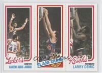 Kareem Abdul-Jabbar, Slam Dunk Star (John Shumate), Larry Demic